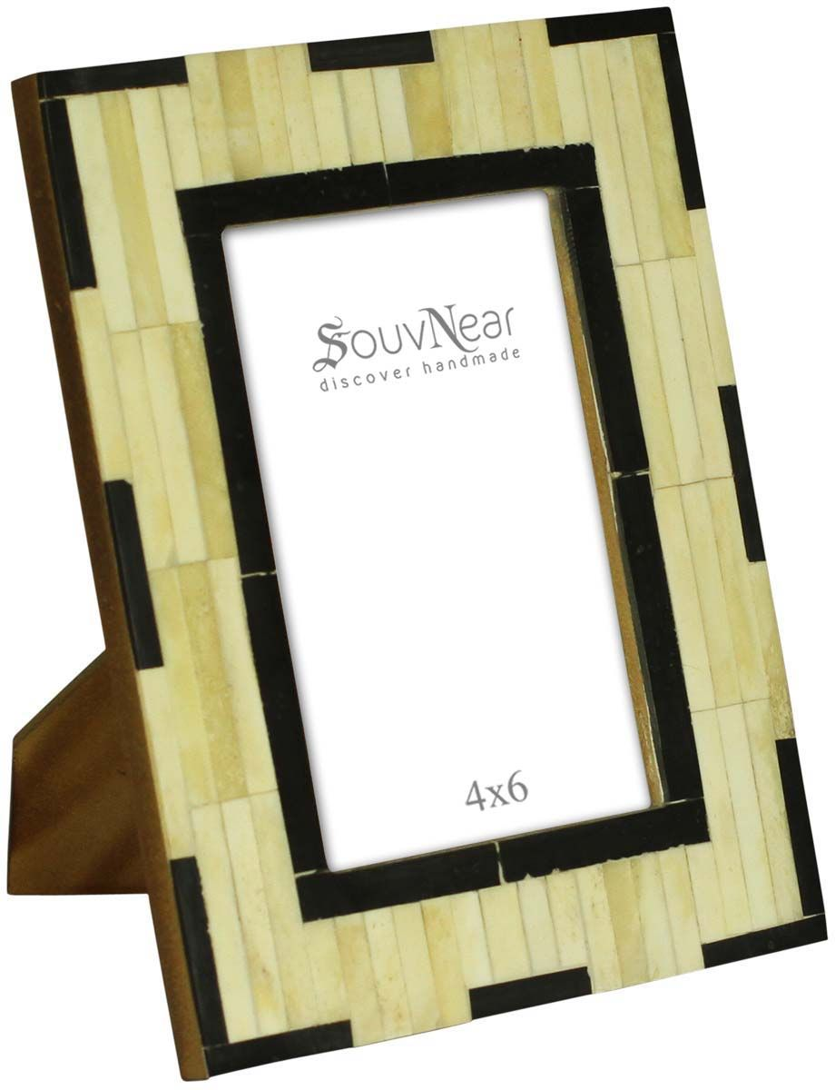 "Wholesale 4x6"" Off-White & Black Picture Frame in Bulk - Wholesale ..."
