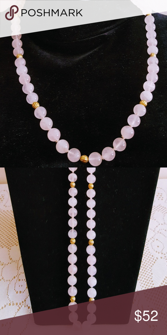 Rose Quartz Hand Knotted Beaded Necklace