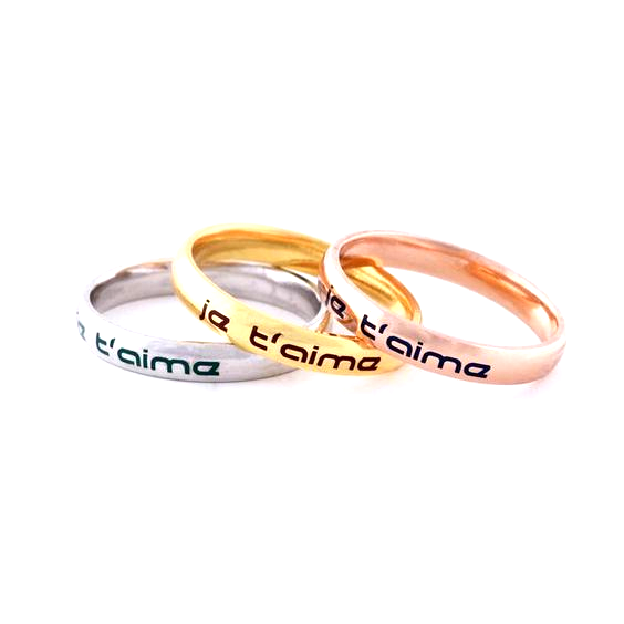 Personalized Solid 925 Sterling Silver Promise Custom Ring Wedding Jewelry