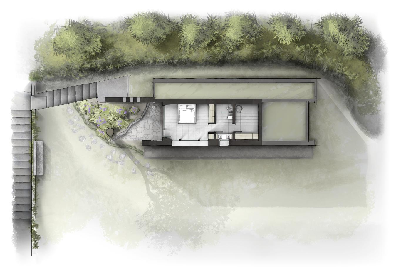 Villa gardasee grundriss eg innenarchitektur zeichnungen for Innenarchitektur leipzig