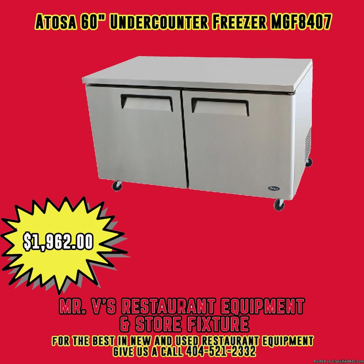 Limited Time Offer Atosa 60 Quot Under Counter Freezer R Was 2200 Now Only 1962 The Best Restaurant Equipment Used Restaurant Equipment Worktop Freezer