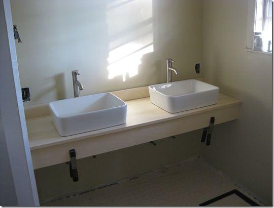 Diy Floating Vanity Floating Bathroom Vanities Basement