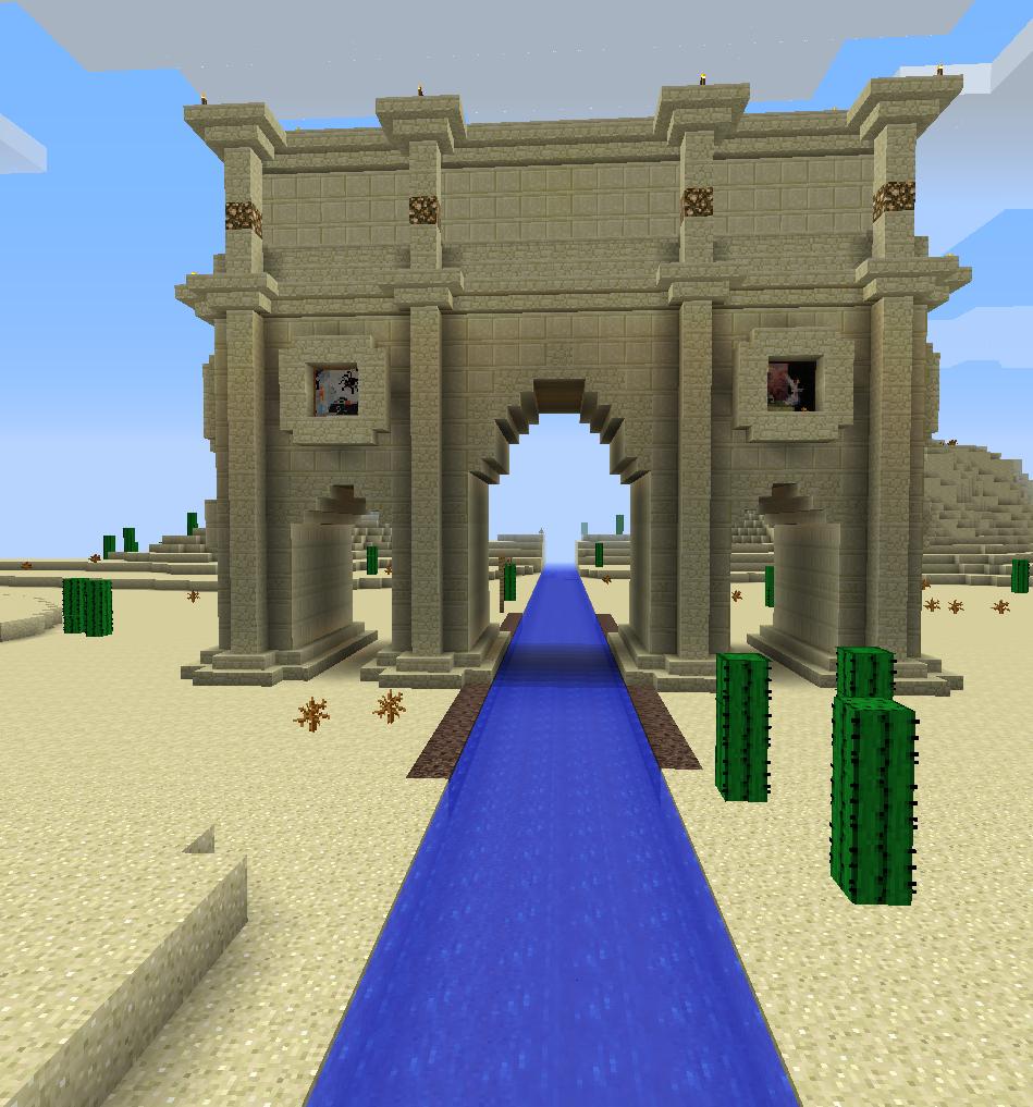 Multiplayer Server Arch Of Constantine Arch Of Constantine Minecraft Designs Arch