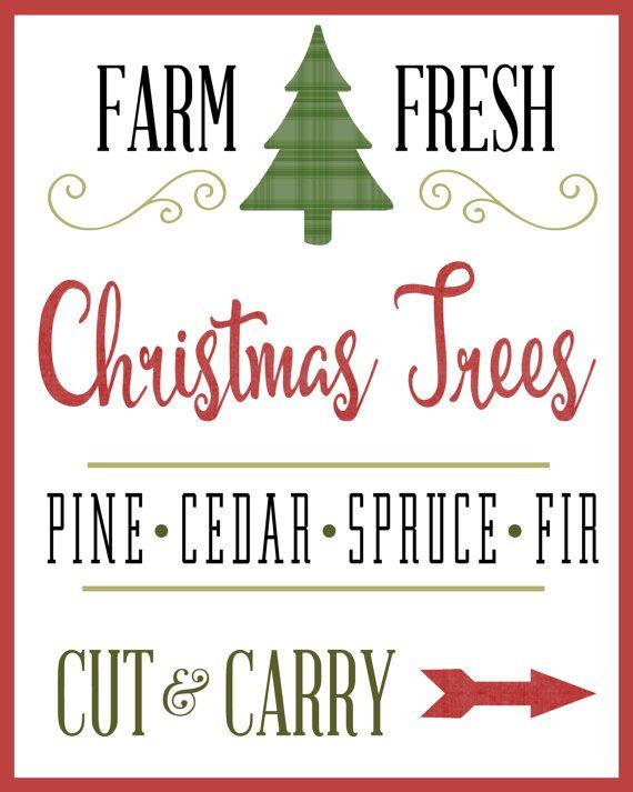 Farm Fresh Christmas Trees Printable Christmas Tree Printable Fresh Christmas Trees Christmas Tree Farm