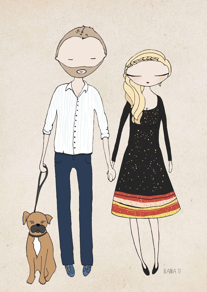 Richard and Holly Wood illustration by Blanka Biernat