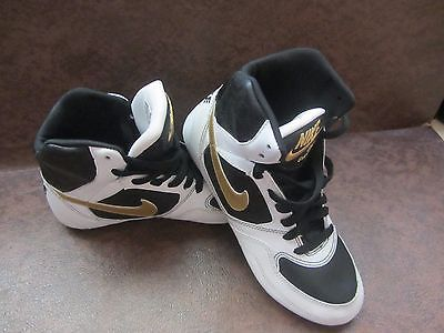 new style 5d1ac e52df Womens NIKE Greco Supreme wrestling shoes White Metallic Gold Black Size  6.5