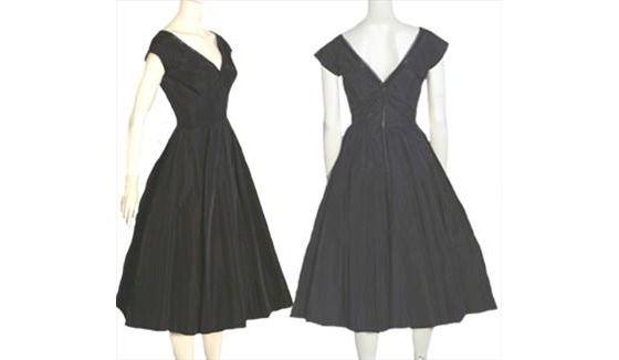 Taffeta 1950s Circle Skirt Vintage Dress Saks Fifth Avenue $90.00