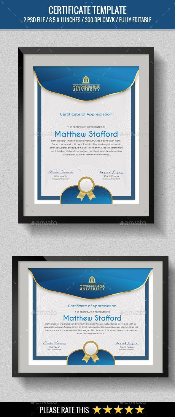 Multipurpose Certificates | Certificate, Template and Graphics