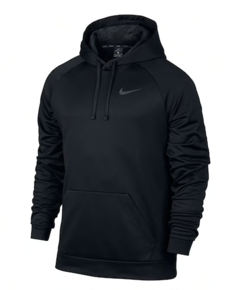 Big & Tall Nike Therma Training Hoodie Black Gray Large