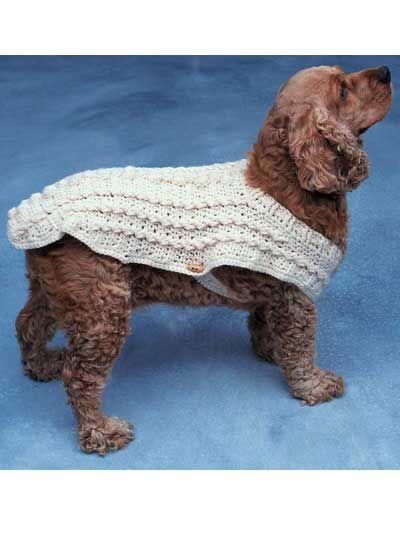 Free Crochet Dog Sweater Pattern National Dog Day   Katzen kleidung ...