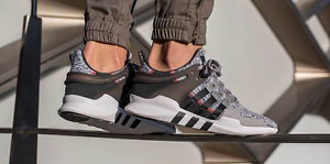 pretty nice d09f6 4dd29 adidas-EQT-Support-Adv-91-16-Solid-Grey-Black-Turbo-Men -Trainer-034-All-Sizes-034