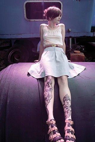 See more tattoo ideas on http://tattoosaddict.com/beautiful-girl-in-skirt-with-knee-tattoo-design.html beautiful girl in skirt with knee tattoo design - http://goo.gl/CN7AcF #Beautiful, #Design, #Girl, #In, #Knee, #Skirt, #Tattoo, #With