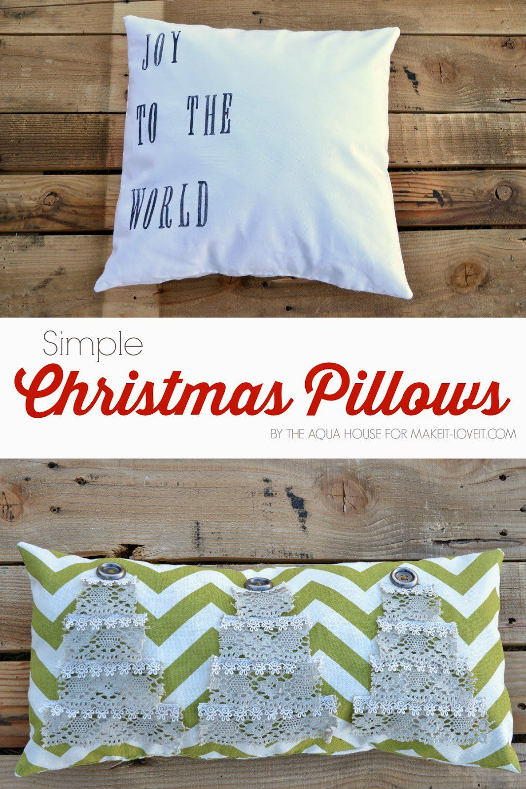 Simple DIY Christmas Pillows | Crafts and Upcycling | Pinterest ...