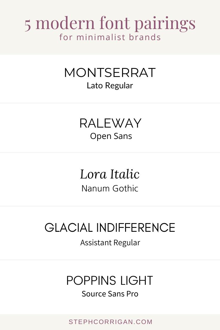 5 Modern Font Pairings for Minimalist Brands