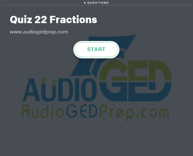 Take our Quiz about Fraction. A fraction shows a part of a whole. They are usually shown by a top number, called the numerator, and a bottom number, called the denominator.