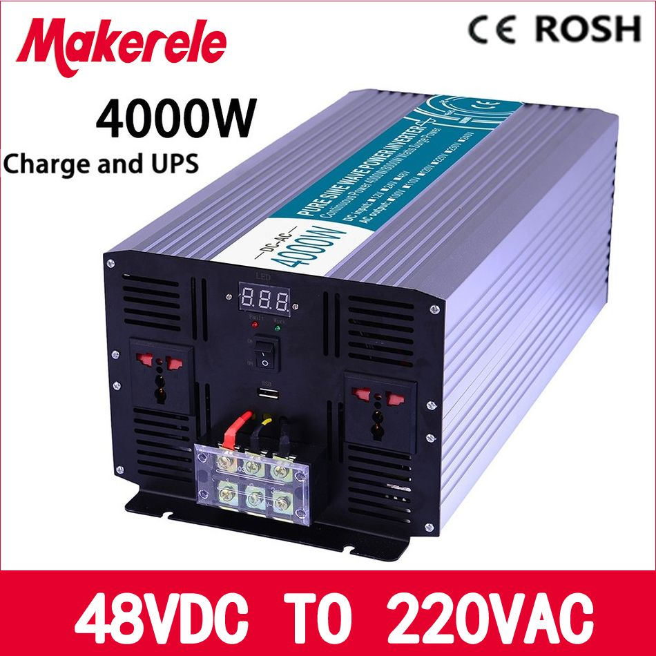 Mkp4000 482 C 4000w Ups Power Inverter 48v To 220v Pure Sine Wave Circuit Diagram Also Solar Voltage Converter With Charger And