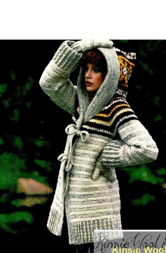 Crochet Pattern, Crochet Jacket Pattern, Crochet Hooded Jacket ...