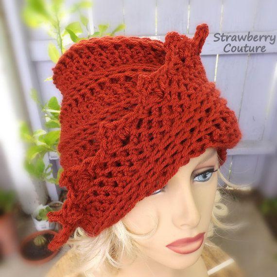 Gift for Women Crochet Hat Womens Hat Womens Beanie Women Beanie Hat Women Terra Cotta Hat LAUREN Crochet Beanie Hat Lauren Hat by strawberrycouture by #strawberrycouture on #Etsy