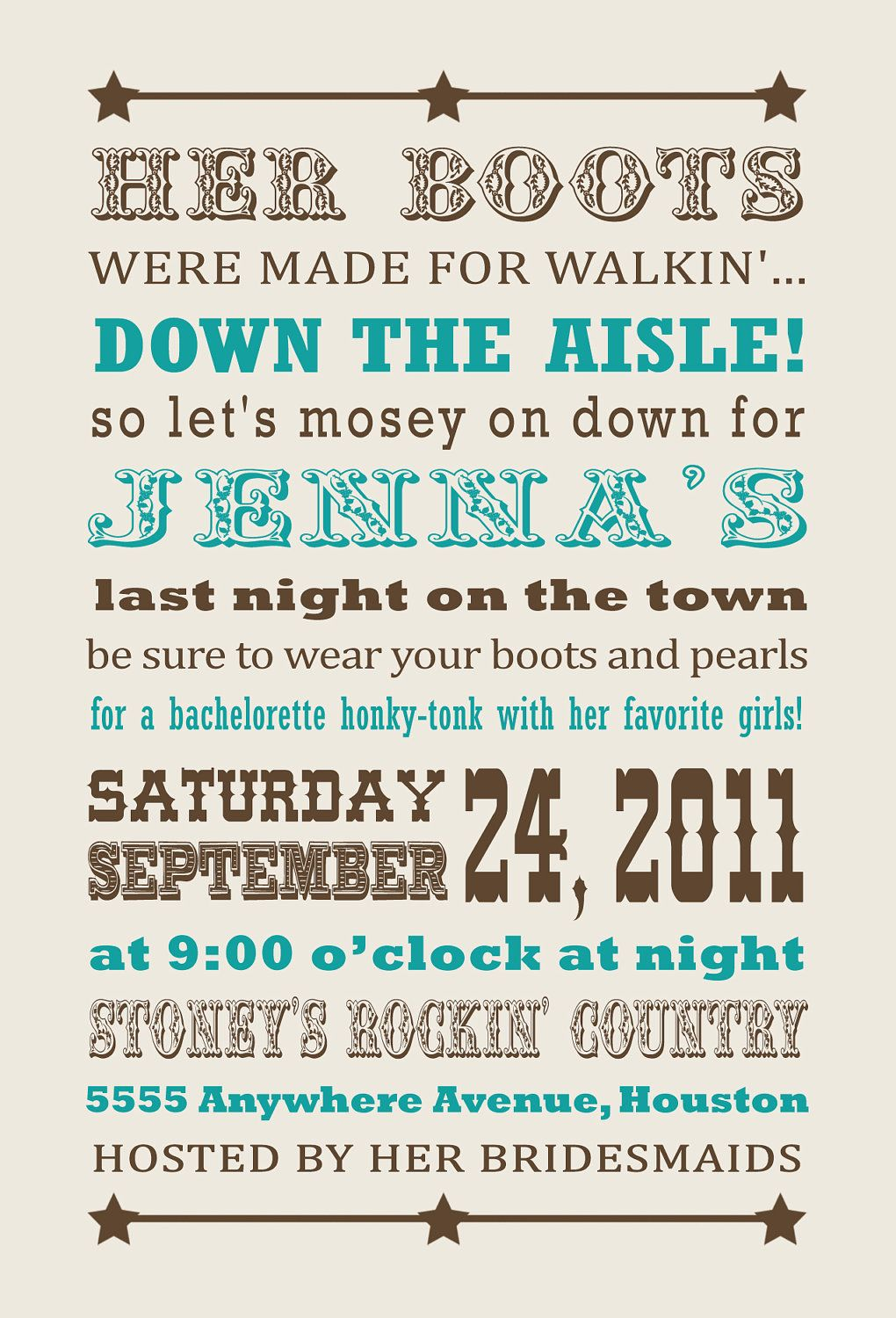 bachlorette party.. Cowgirl Western Bachelorette Party Invitation ...