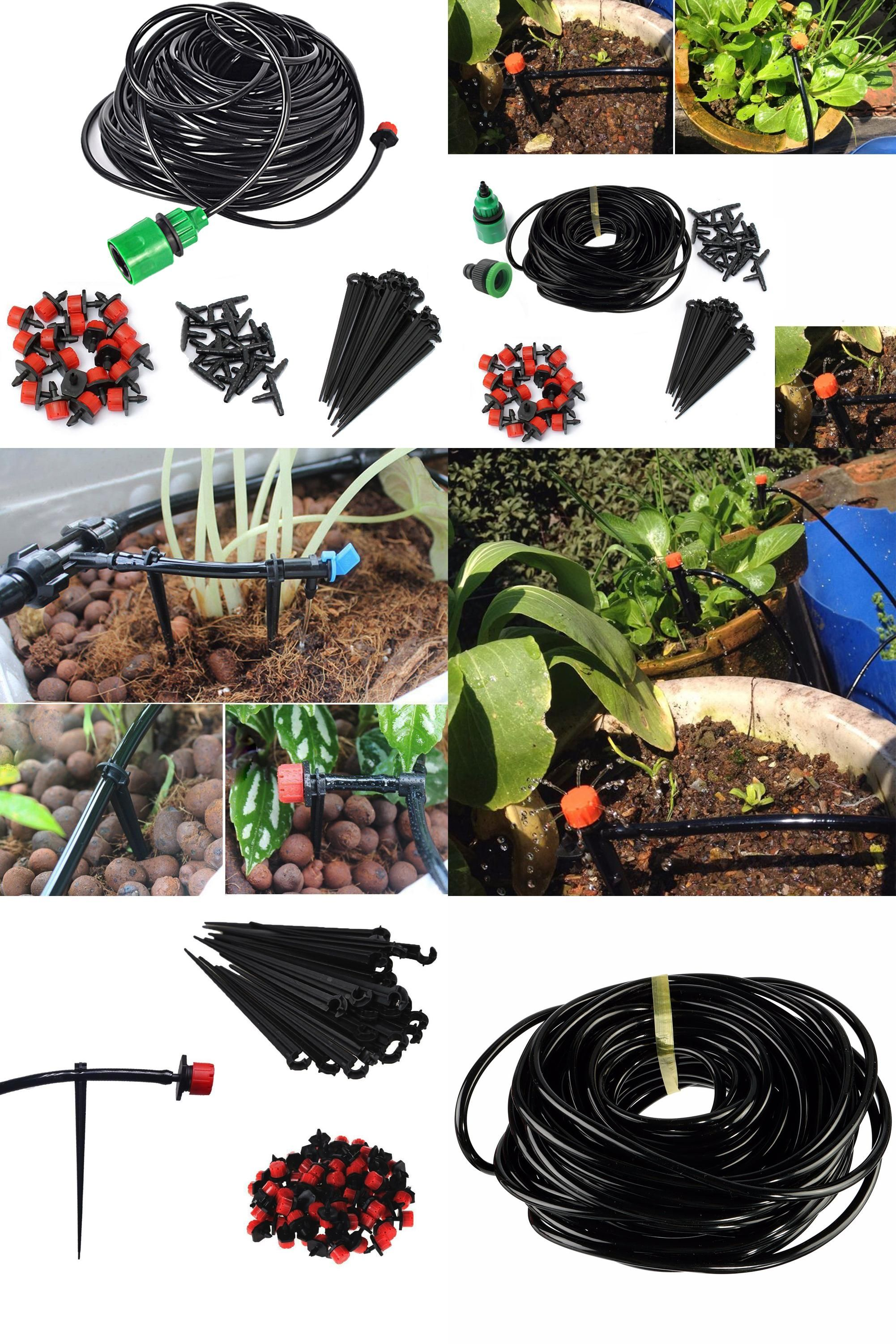 visit to buy] 5m micro drip irrigation kit set plants watering