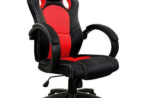 Chaise de bureau sport fauteuil u2013 siege baquet u2013 rouge et noir