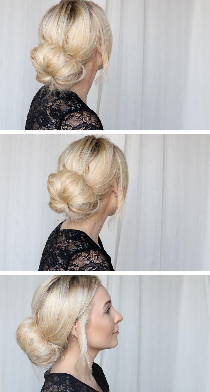 3 Wundervolle Frisur Ideen für die faulen Tage | Hair donut, Updo ...