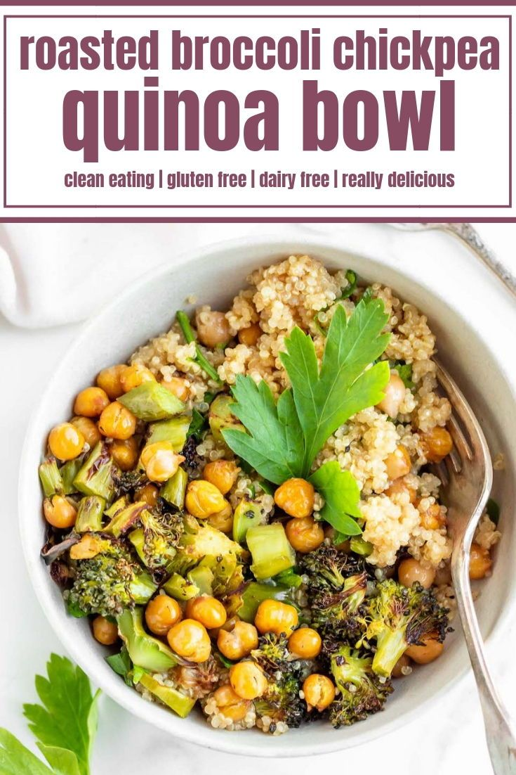 Photo of Roasted Broccoli Chickpea Quinoa Bowls – Always Nourished