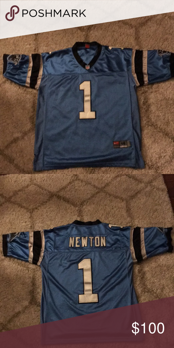 CAROLINA PANTHERS MEN S CAM NEWTON  1 NIKE BLUE Wore once great condition  limited edition Cam Newton blue jersey Nike Shirts 27a0137c2