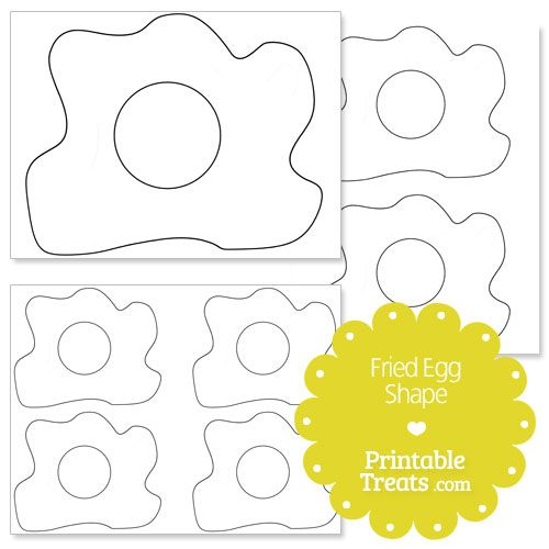 Printable Fried Egg Shape Template Green Eggs Ham Dr Seuss