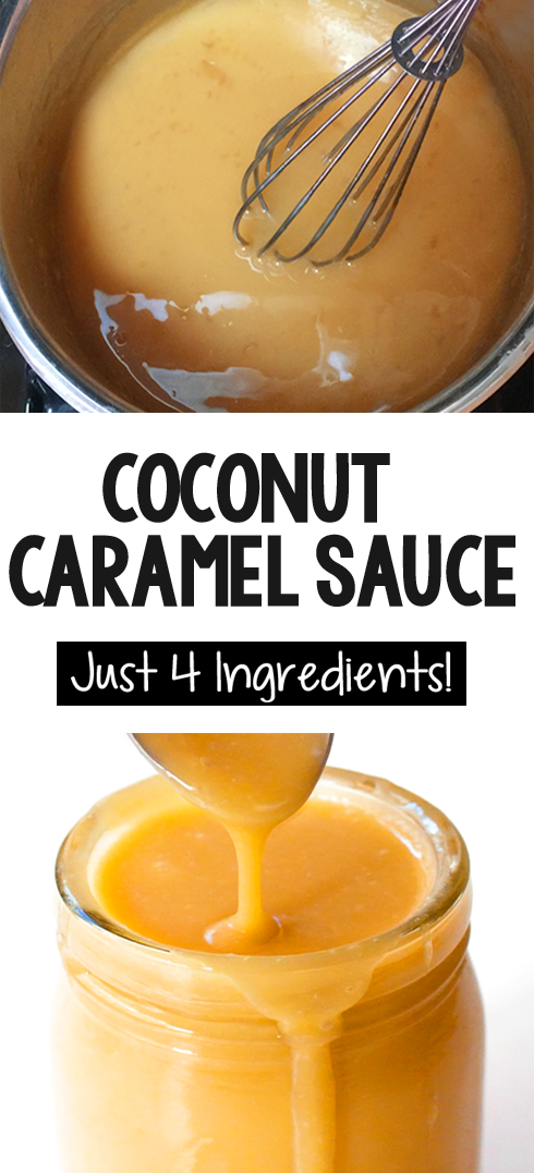 How To Make Your Own Vegan Caramel Recipe At Home With A Can Of Coconut Milk Vegan Recipe Dessert Coconut Caramel Coconut Milk Recipes Coconut Caramel Sauce