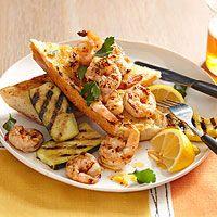 Grilled Shriimp Scampi | http://www.rachaelraymag.com/recipe/grilled-shriimp-scampi/