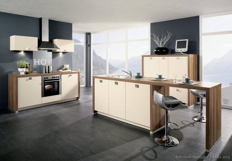 Kitchen Of The Day Modern Kitchen Design With Cool Gray Floors Magnificent Kitchen Design Gallery Ideas Design Ideas