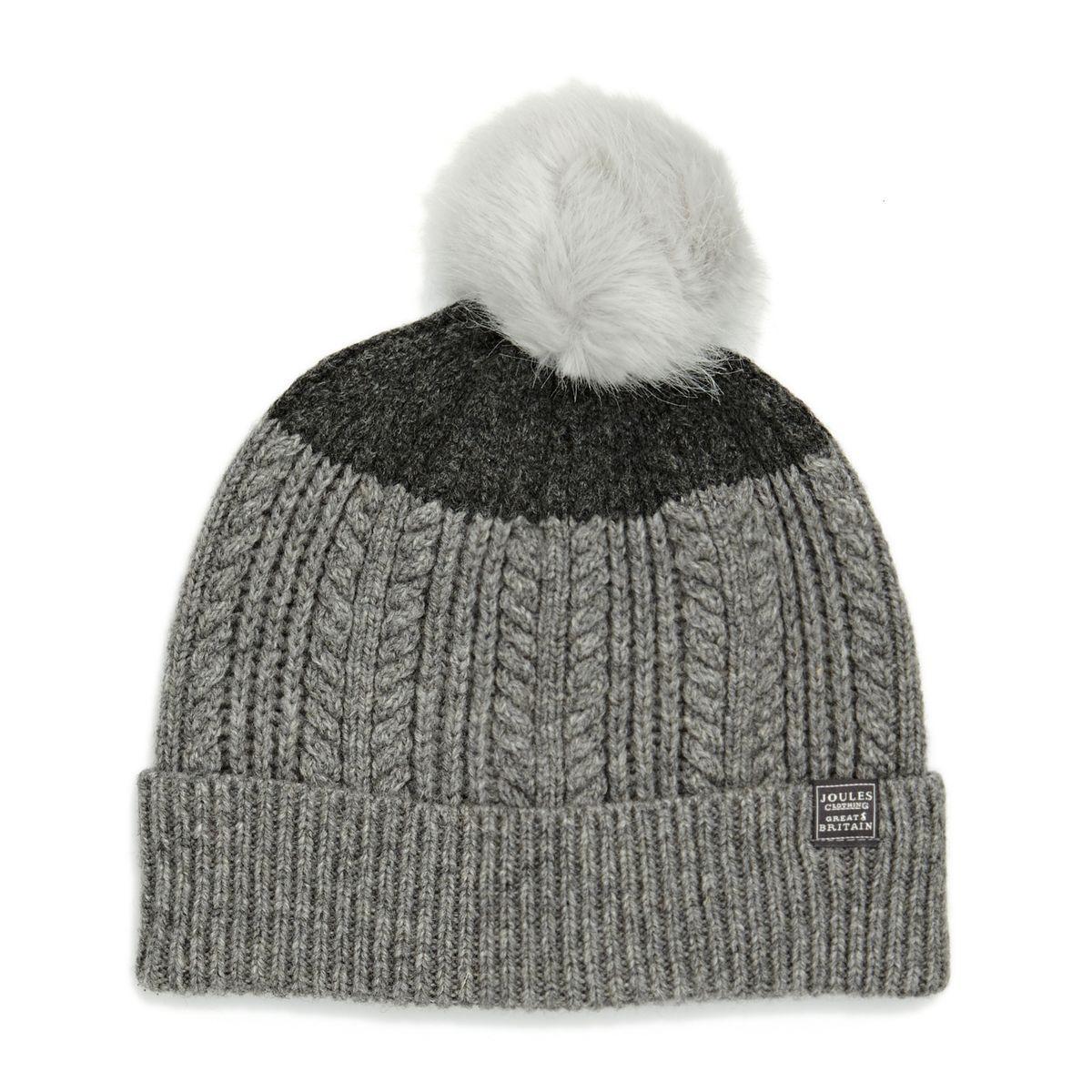 491e7391c0296 Joules Beanies - Joules Bobble Hat - Grey Marl