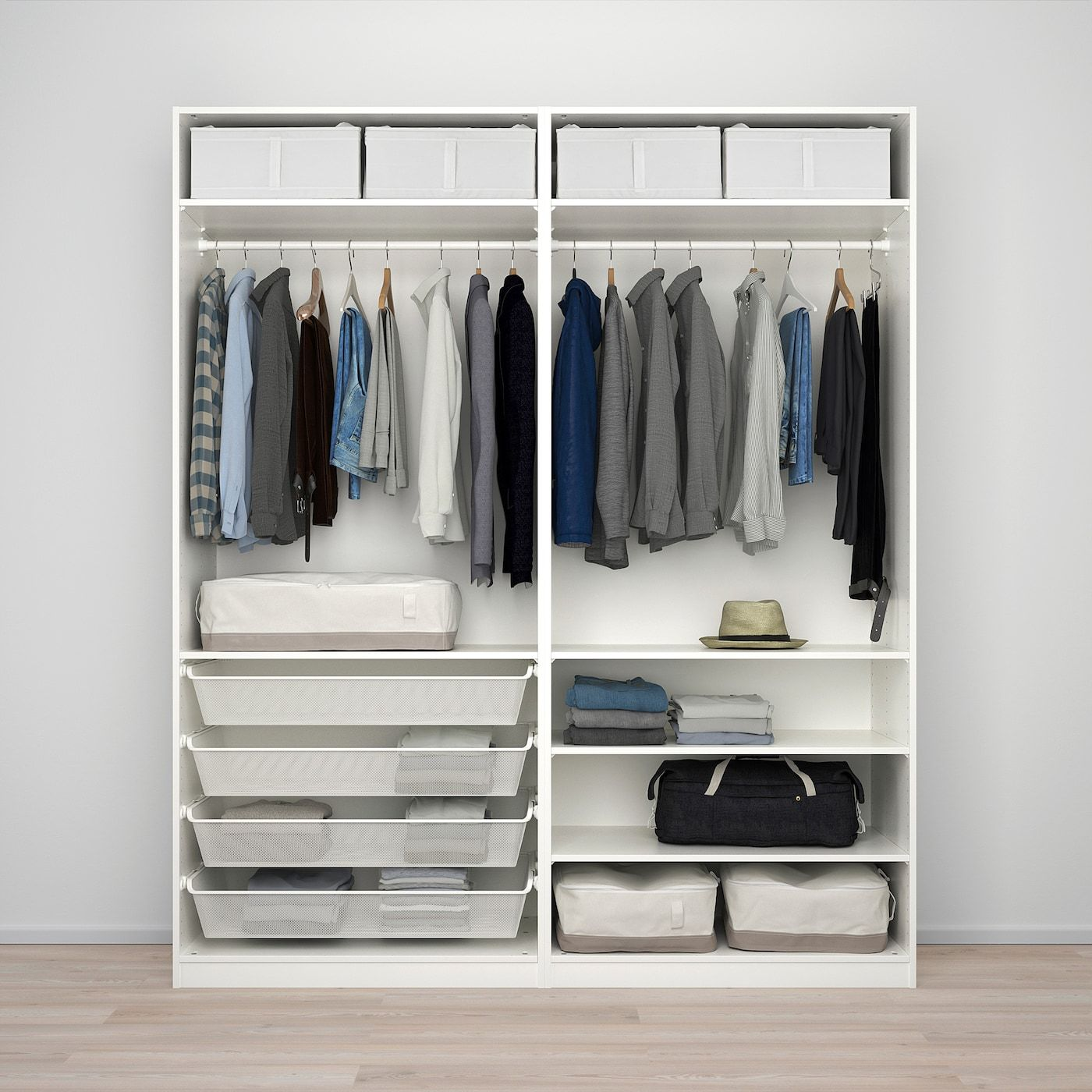 Planner Guardaroba Pax Ikea.Ikea Pax Wardrobe White Nykirke Frosted Glass Check Pattern