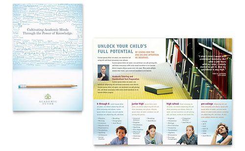 Academic Tutor School Brochure Design Brochures Pinterest