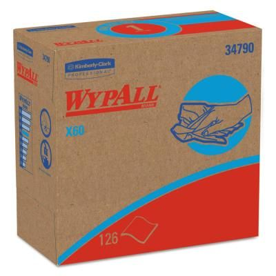 WYPALL X60 White Pop-Up Wipers (126-Box) (Case of 10 Boxes).