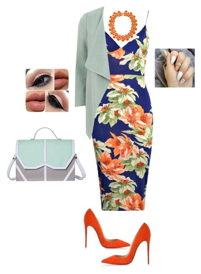 """""""Untitled #229"""" by javall-bridges ❤ liked on Polyvore featuring Boohoo, Christian Louboutin, Dorothy Perkins and Emeline Coates"""