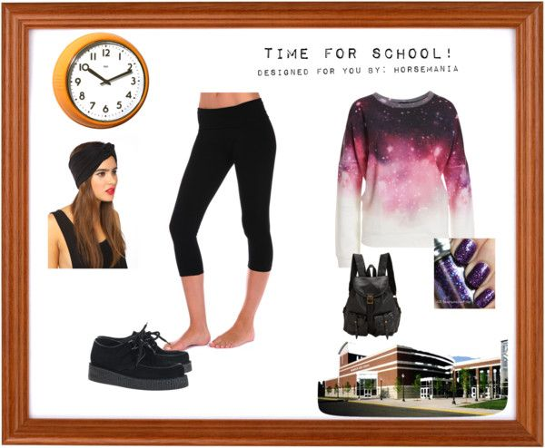 """""""What to wear to school. Part 4"""" by horsemania ❤ liked on Polyvore"""