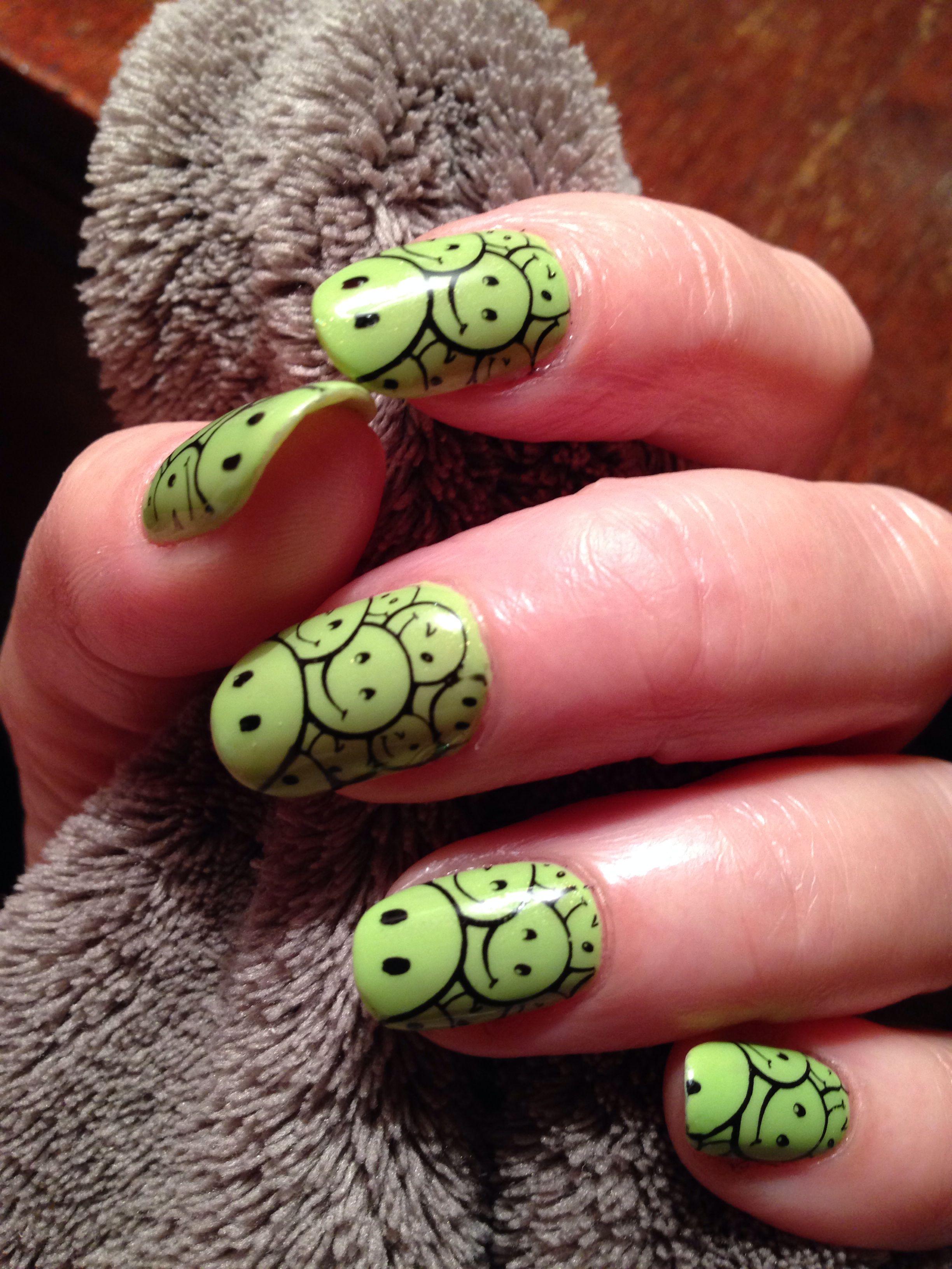 Smiley face nails | Fun nails, Nails, Smiley face