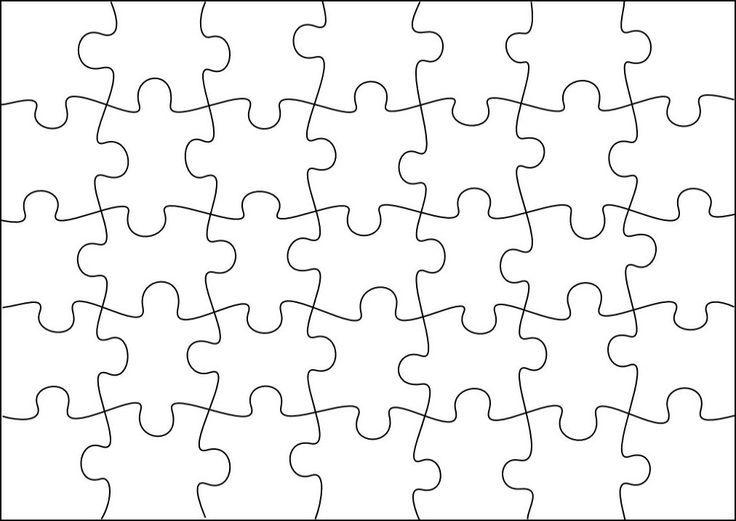 free puzzle template glue