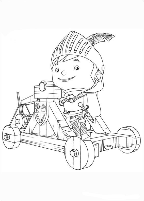 Mike the Knight Målarbilder 11 | För barn | Pinterest | Caballeros y ...