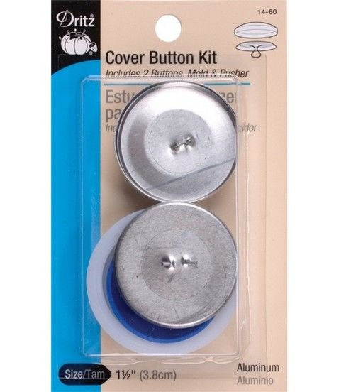 Dritz 1 5 Aluminum Cover Button Kit Size 60 36 7 8 22mm In 2020 Covered Buttons Kit Cover