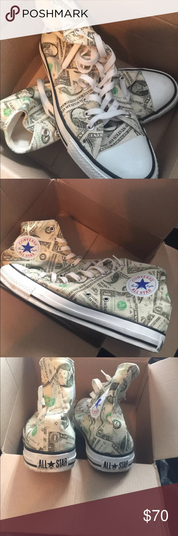 Rare Dollar Converse From An For Very Close To New Except Light Dirt Will Clean Before Shipping Can Fit A Size 10 Women S If Worn With Thick