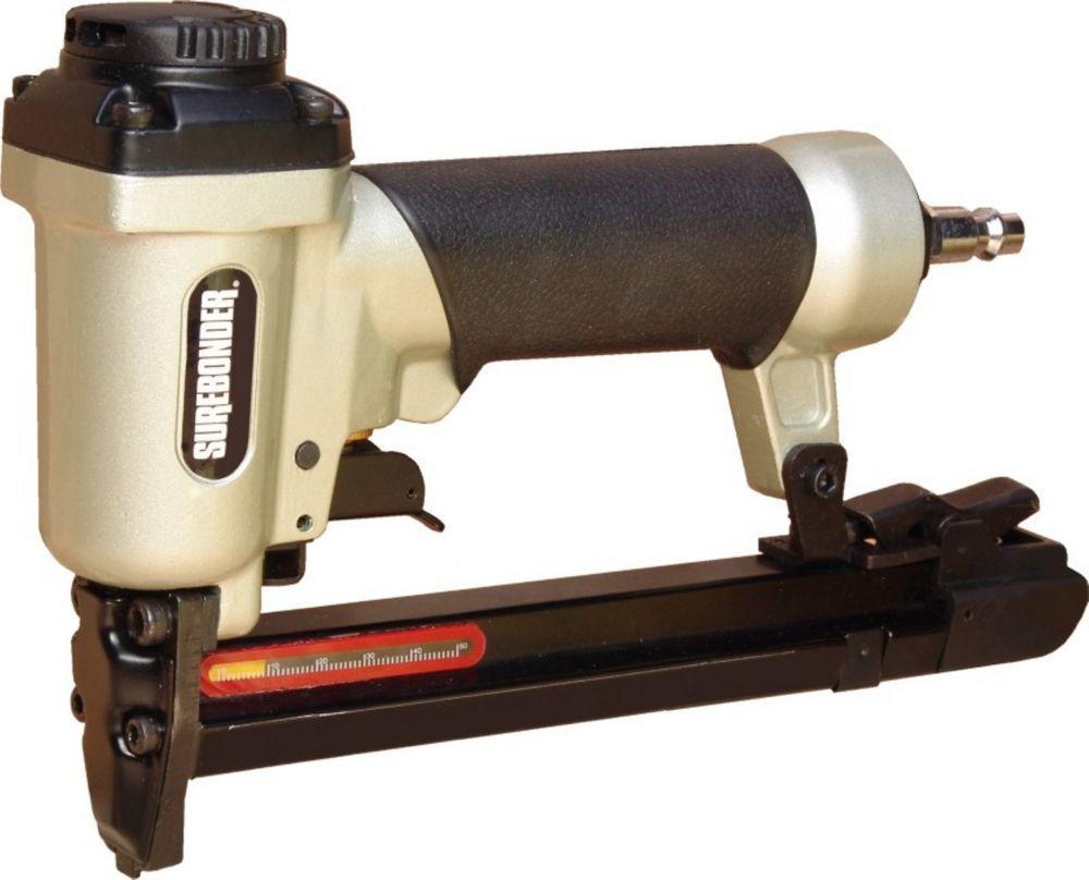 T 50 Pneumatic Stapler Fires 1 4 Inch Thru 9 16 Inch Staples Air Tools Stapler Home Depot