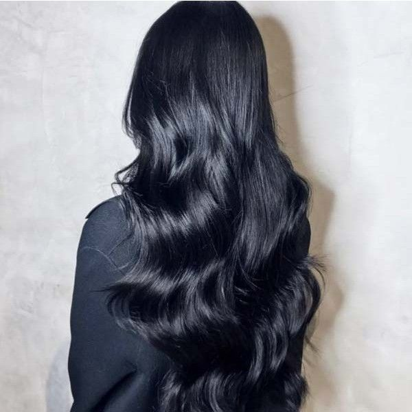 Jet Black 100 Remy Clip In Human Hair Extensions 250gr 24inch