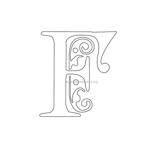 floral wall stencil letter f | jades world | Letter ...