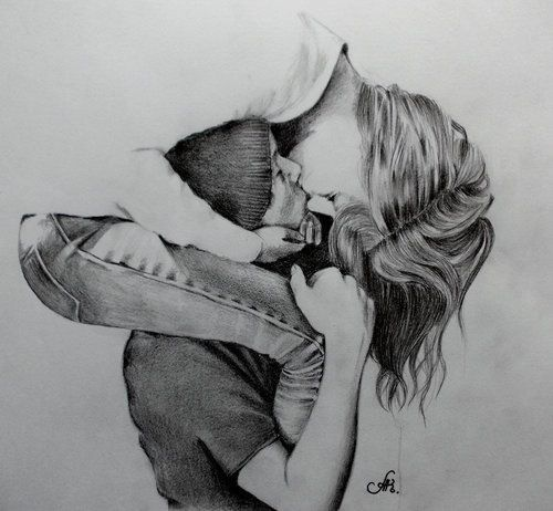 Couple drawing artspiration pinterest dessin - Dessin amoureux couple ...