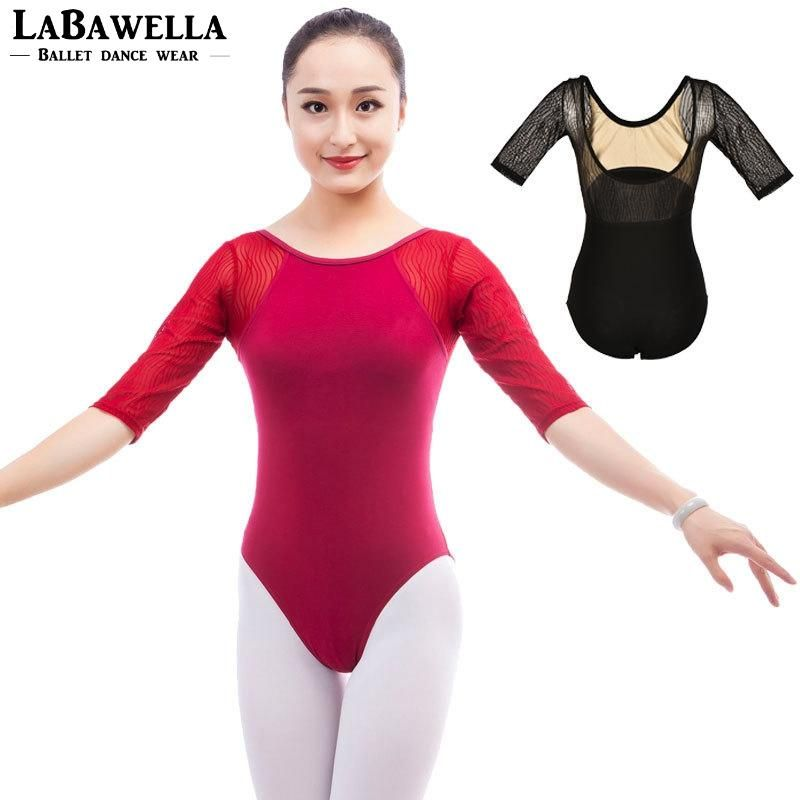2debc81e6613 Girls lace gymanstics ballet dance leotards for sale burgundy 1/2 sleeves  sexy training ballet clothes leotard CS0308. Yesterday's price: US $18.90  (16.40 ...