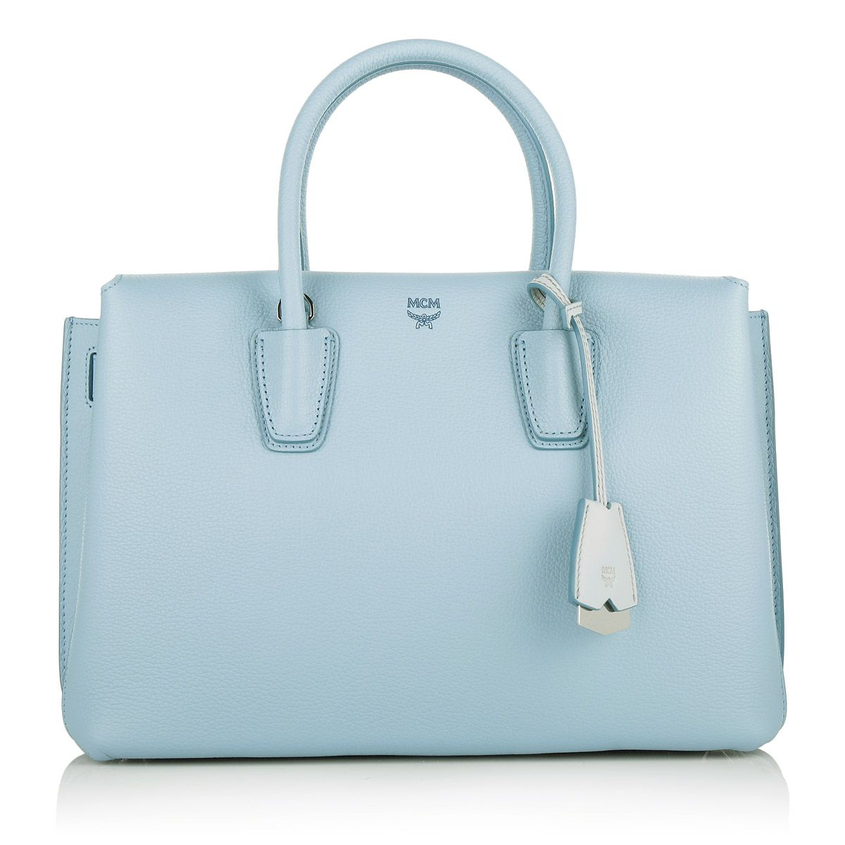 Heavenly perfect: the MCM Milla Tote Medium Sky Blue