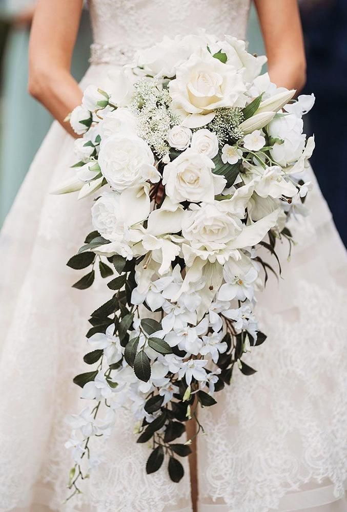 48 All White Wedding Bouquets Inspiration | Wedding Forward